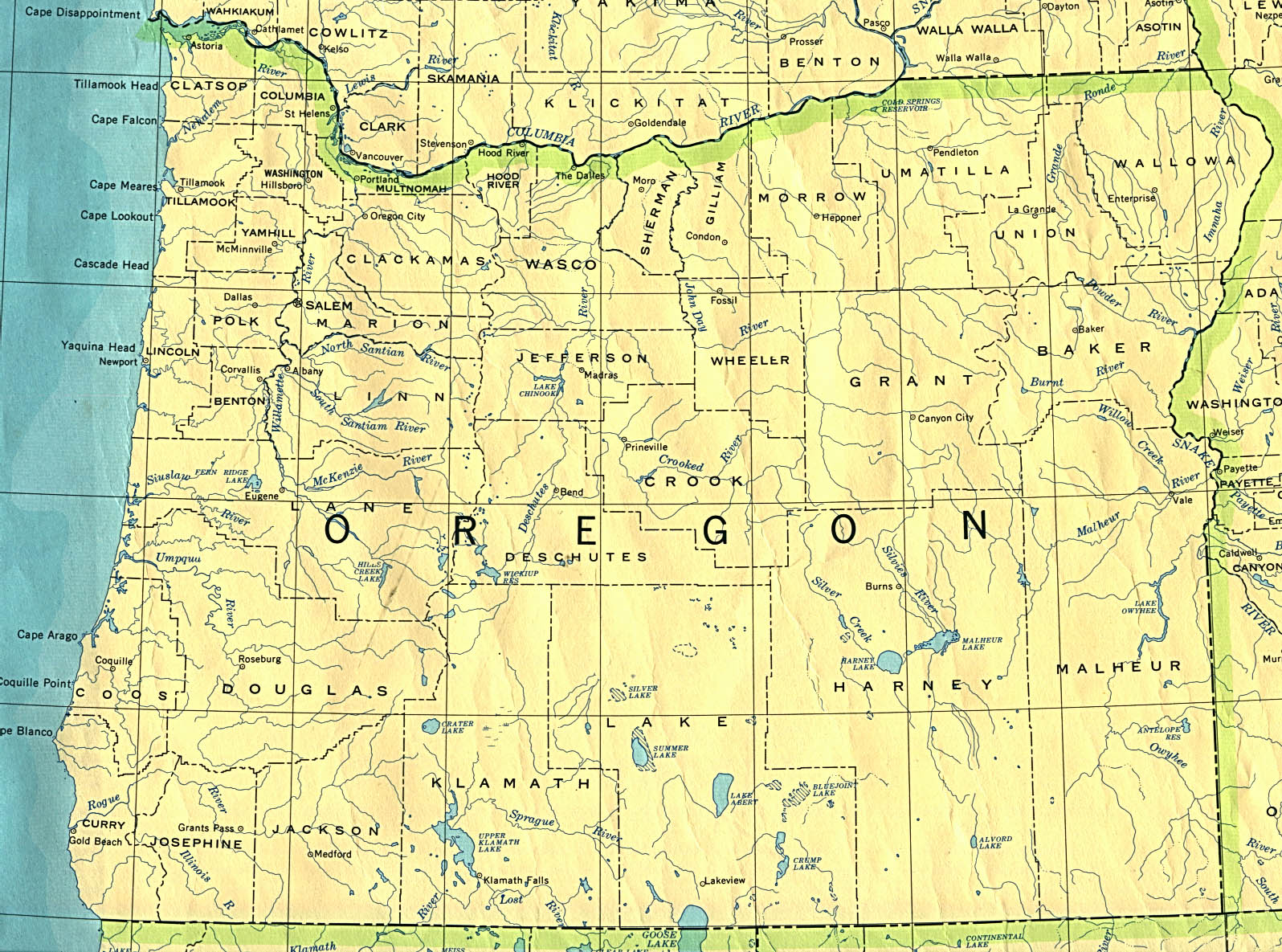 Oregon Maps PerryCastañeda Map Collection UT Library Online - Oregon county maps