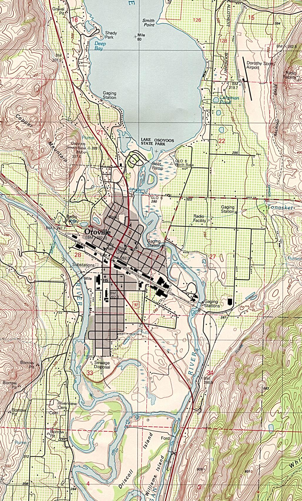 State Of Washington Mapsof Interstate Highways Cities Typography - Map washington state peninsula