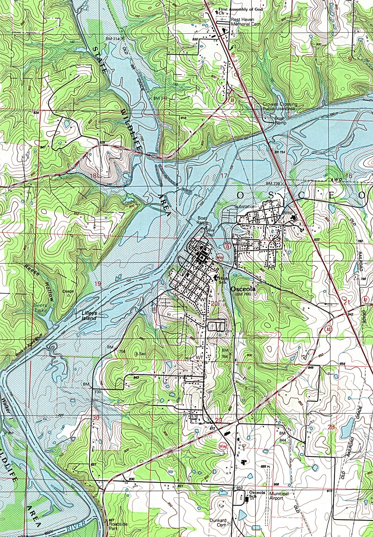 missouri maps perry castañeda map collection ut library online