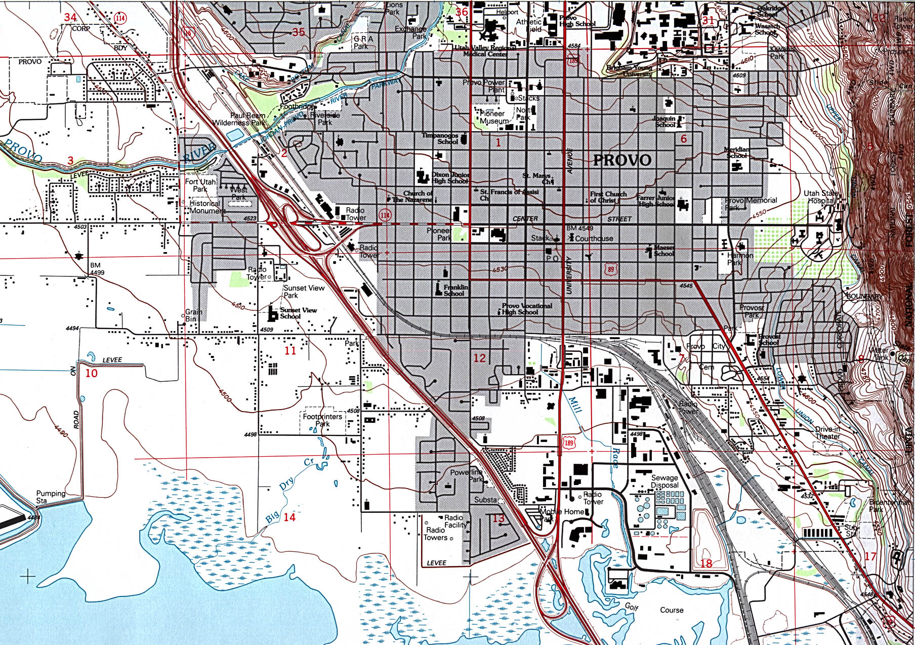 State Of Utah Mapsof Interstate Highways Cities Typography - Utah road map