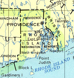Rhode Island Maps PerryCastañeda Map Collection UT Library Online - Rhode island on the us map