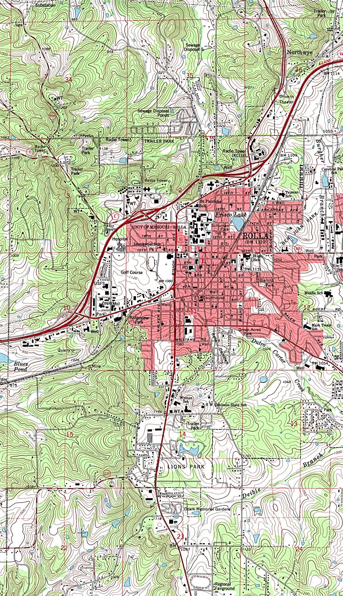 Missouri Maps PerryCastañeda Map Collection UT Library Online - Missouri maps