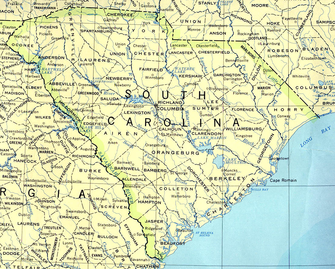 South Carolina Maps PerryCastañeda Map Collection UT Library - Map for south carolina