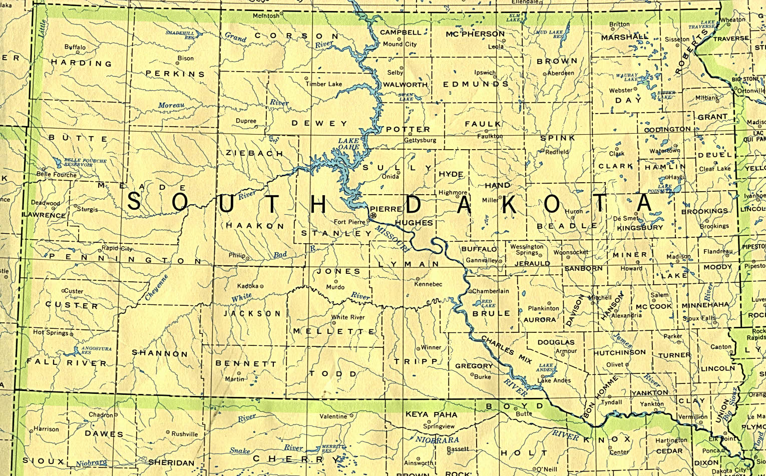 South Dakota Maps PerryCastañeda Map Collection UT Library Online - Road map of south dakota