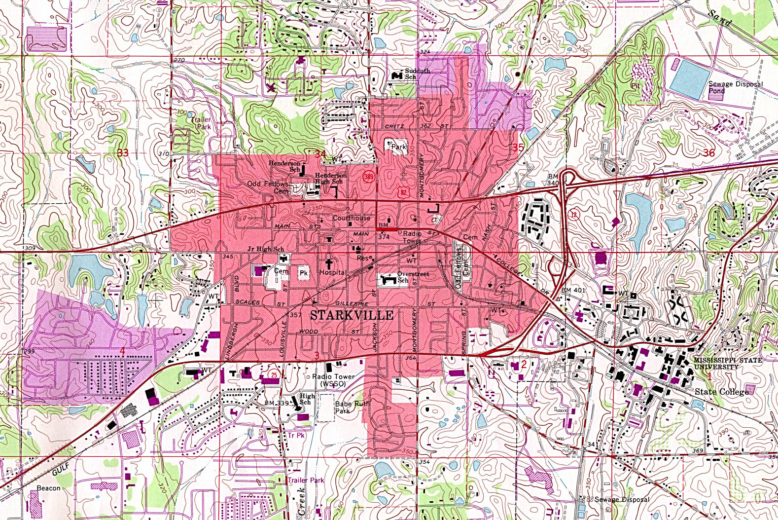 City Map Of Meridian Ms