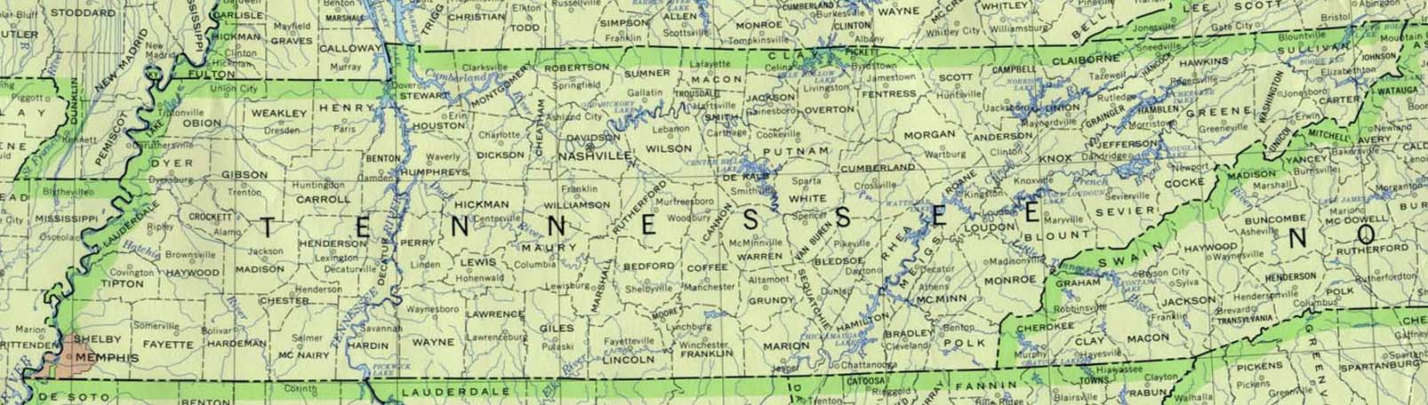 Tennessee Maps Perry Castaneda Map Collection Ut Library Online