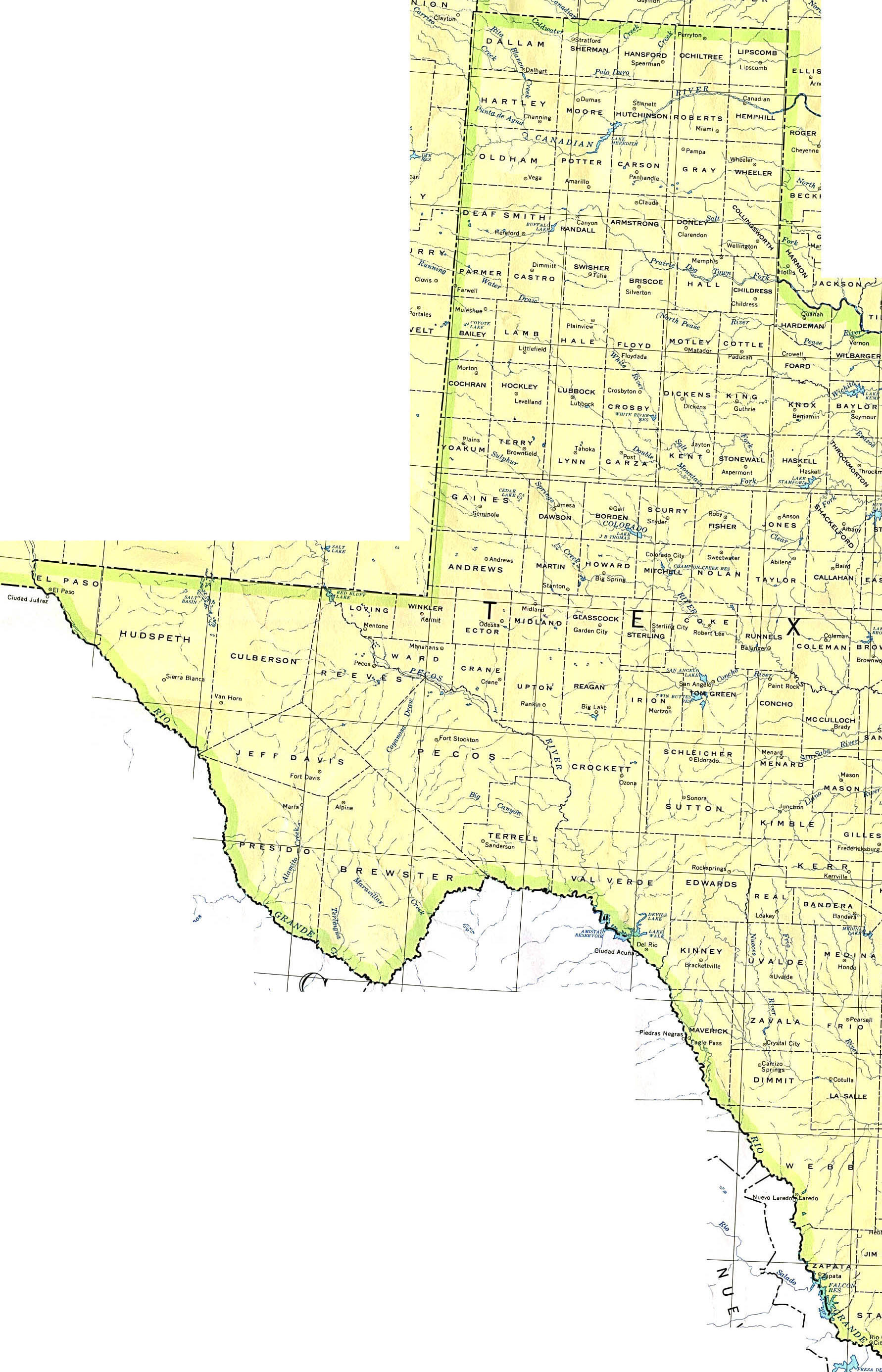 West Texas Towns Map