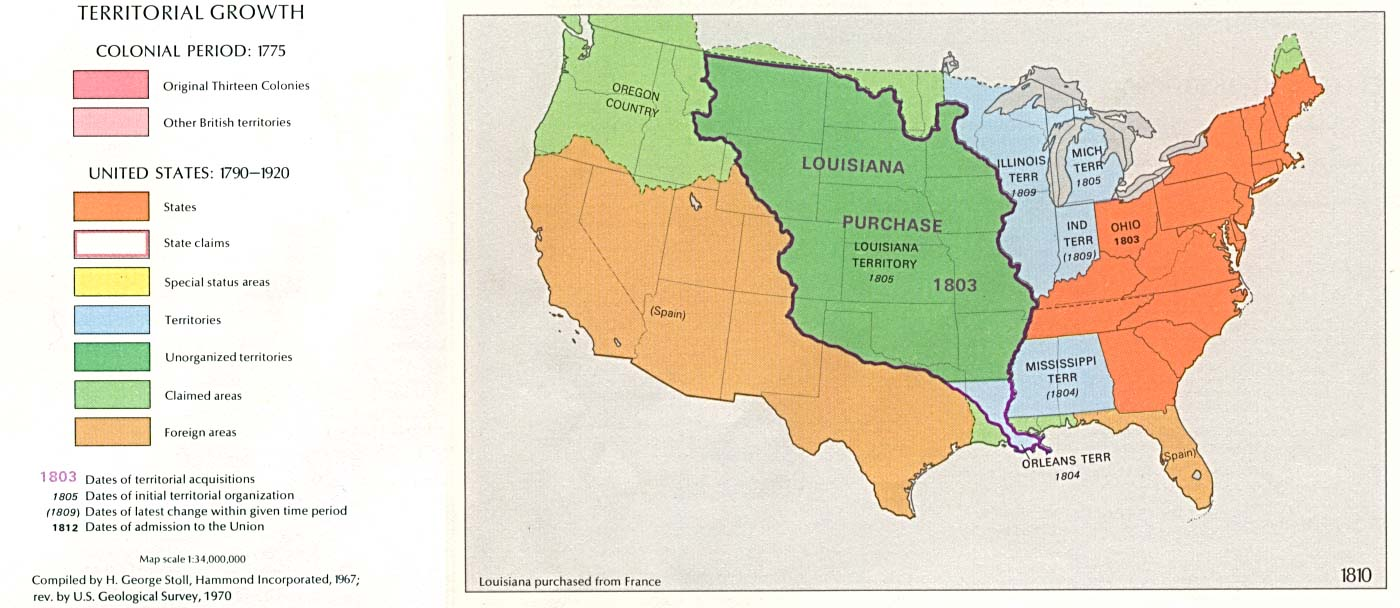 territorial growth 1810