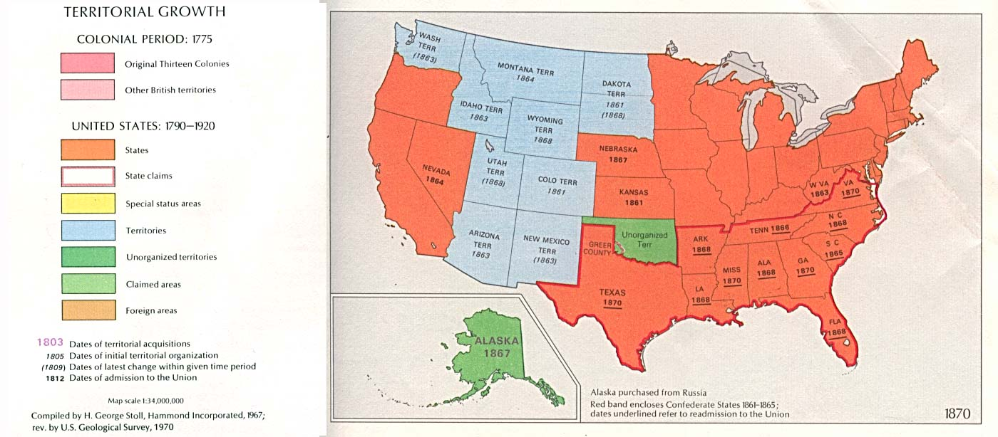 Open Access American History 1860 1877 Civil War Reconstruction - Map-of-us-in-1865