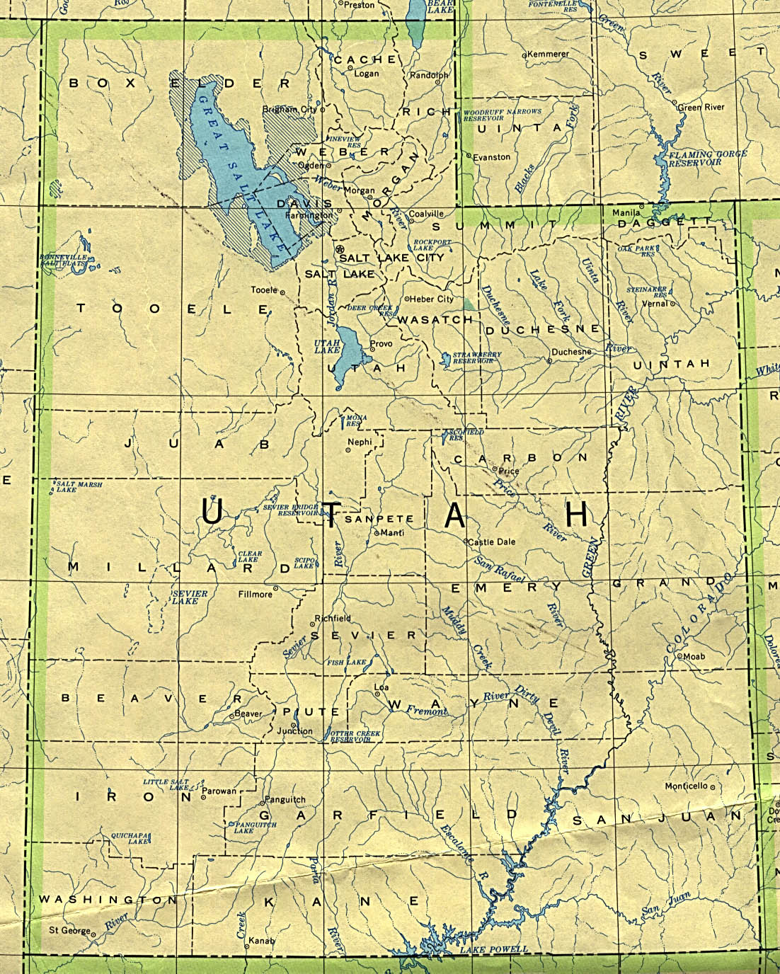 utah maps perry castaà eda map collection ut library online