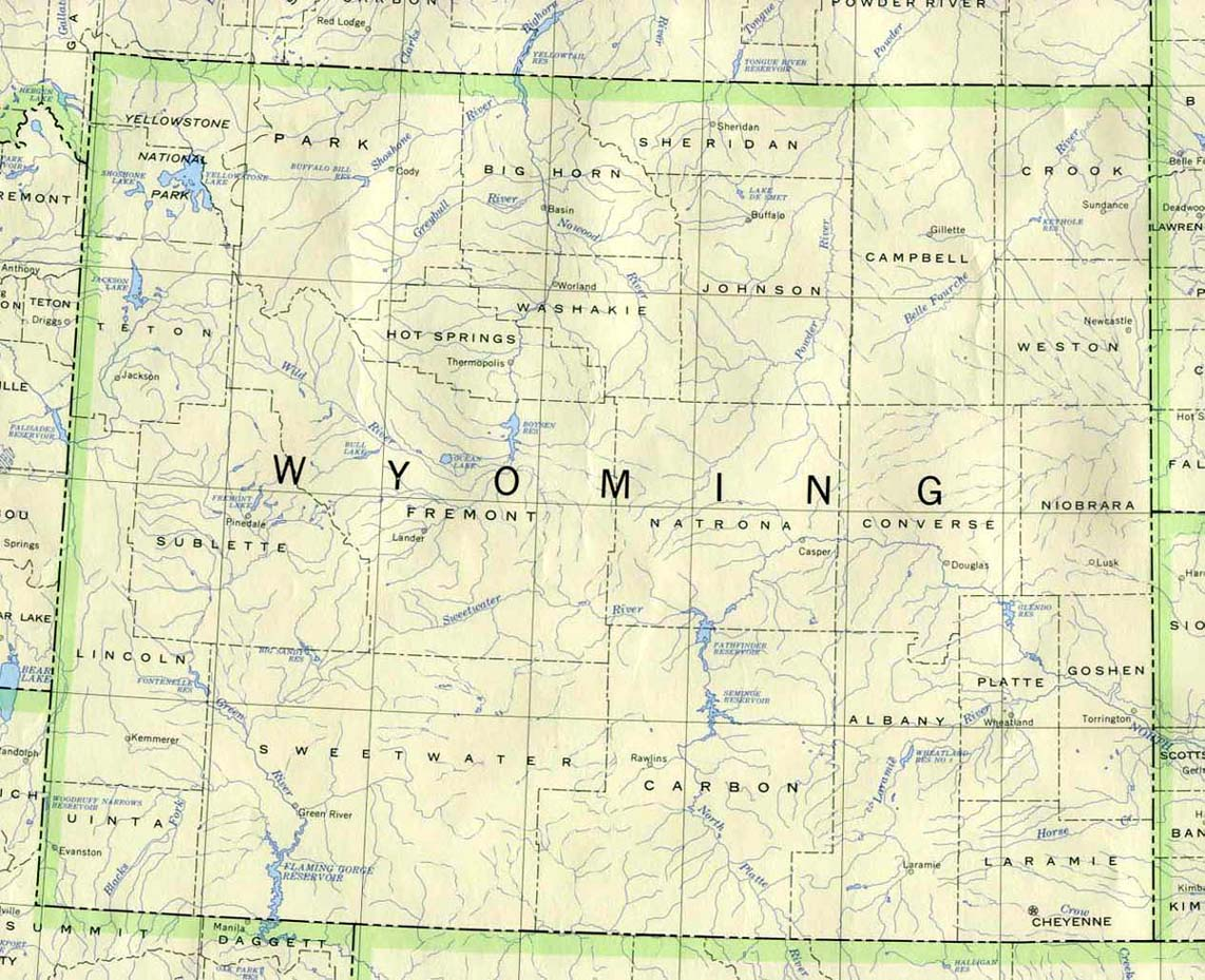 Wyoming Maps PerryCastañeda Map Collection UT Library Online - Latest Arial Map Us