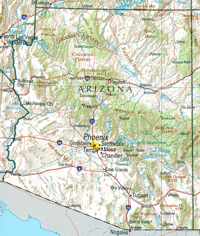 Arizona Maps PerryCastañeda Map Collection UT Library Online - Arizona map