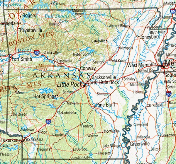 u s bureau of the census 1990 arkansas reference map