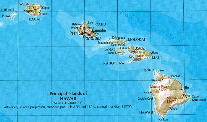Hawaii maps perry casta eda map collection ut library Small islands around the world