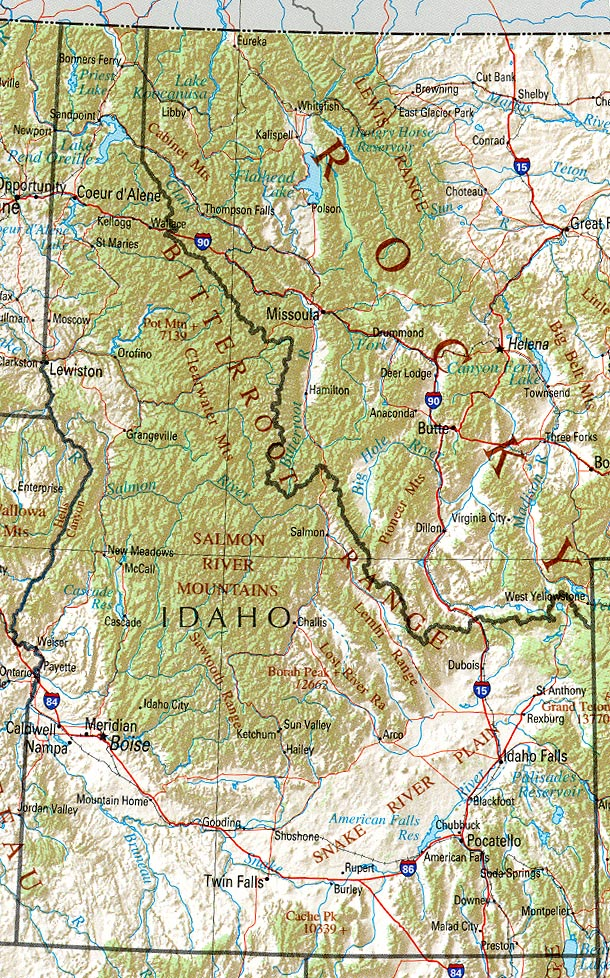 Idaho Maps PerryCastañeda Map Collection UT Library Online - State of idaho map