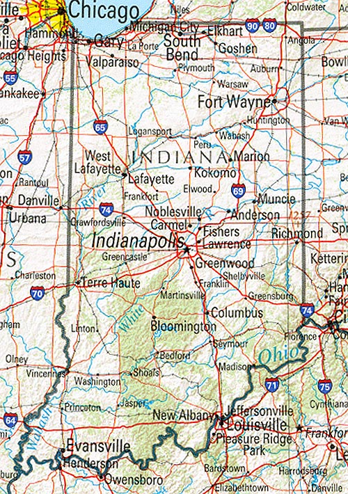 Indiana Maps   Perry Castañeda Map Collection   UT Library Online