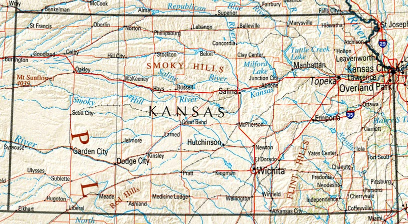 Map Of America Kansas.Kansas Maps Perry Castaneda Map Collection Ut Library Online