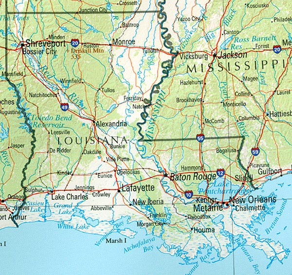 Louisiana Geography and Maps
