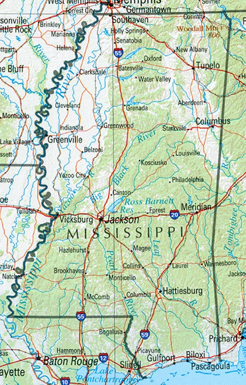 Mississippi Maps PerryCastañeda Map Collection UT Library Online - Counties in ms map