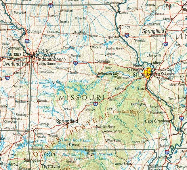 Missouri Tourist Attractions Branson Vacations Kansas City St – Missouri Tourist Attractions Map