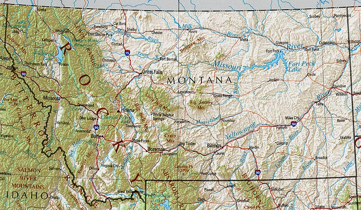 Montana Maps - Perry-Castañeda Map Collection - UT Liry Online on