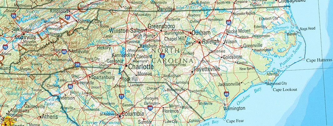Airports In Nc Map.North Carolina Tourist Attractions Charlotte Raleigh Weather Maps