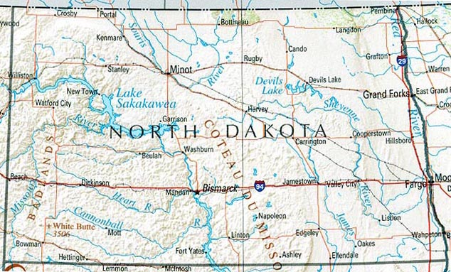 North Dakota Maps PerryCastañeda Map Collection UT Library Online - North dakota rivers map
