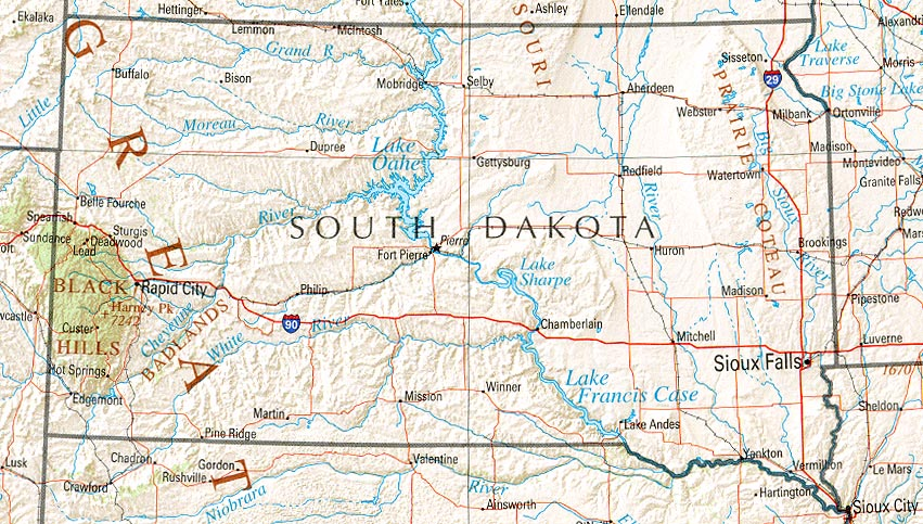 South Dakota Maps PerryCastañeda Map Collection UT Library Online - Map of south dakota