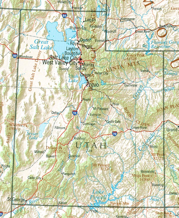 us bureau of the census 1990 utah reference map