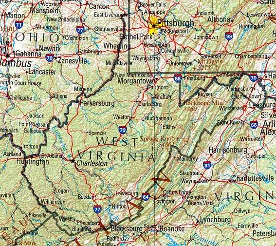 West Virginia Vacation and Tourist Attractions Wheeling Charleston – Charleston Tourist Attractions Map