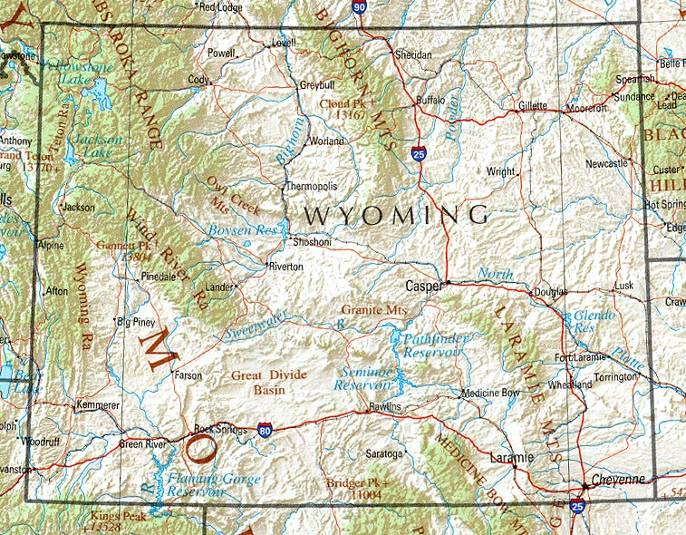 Wyoming Maps - Perry-Castañeda Map Collection - UT Library ...