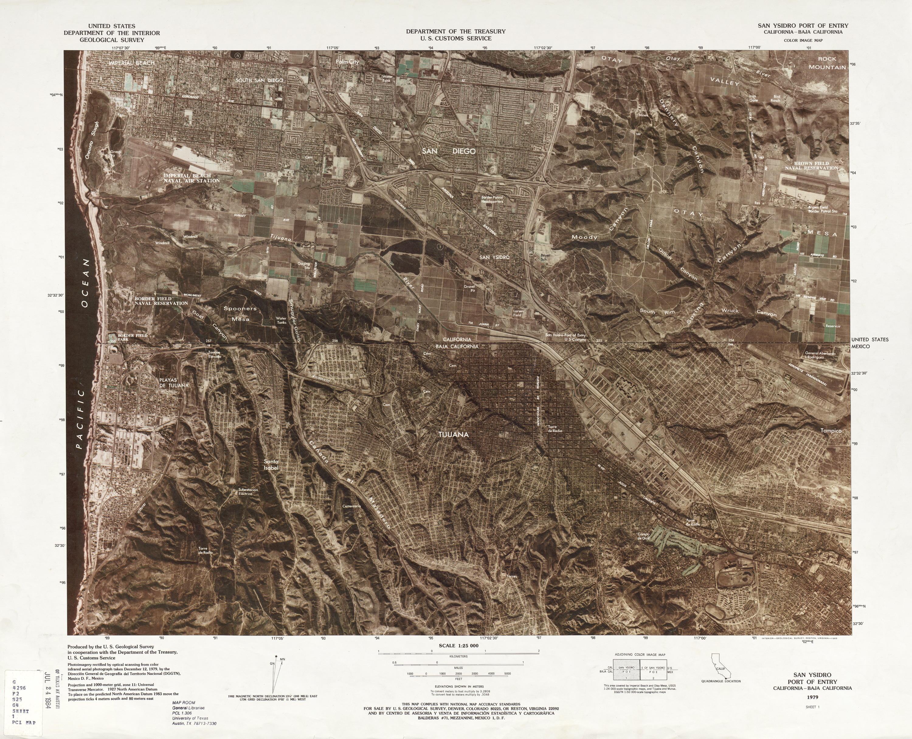 Mexico United States Border PerryCastañeda Map Collection UT - Us map ststes route 80