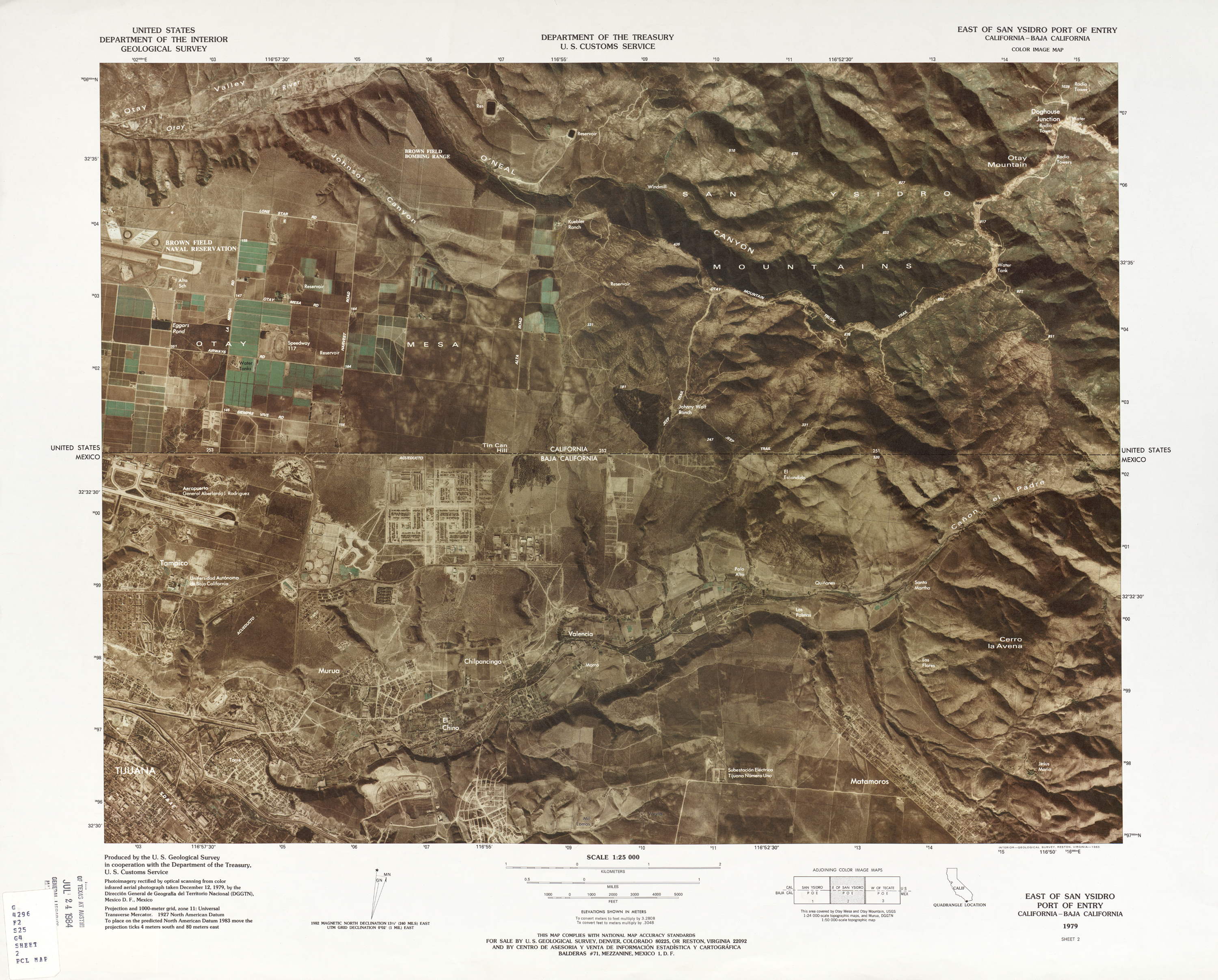 Mexico United States Border - Perry-Castañeda Map Collection ...
