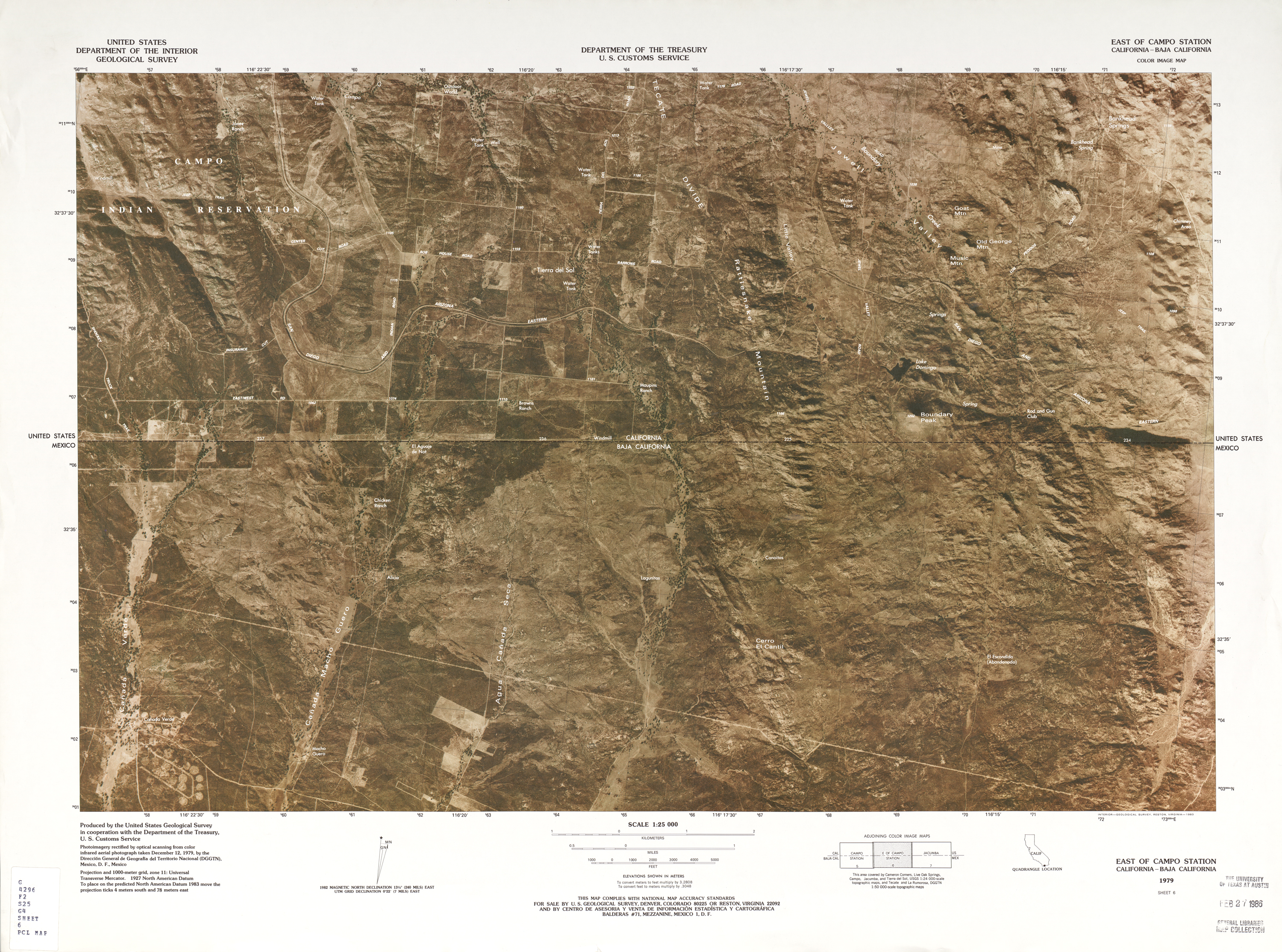 Mexico United States Border Perry Castaneda Map Collection Ut