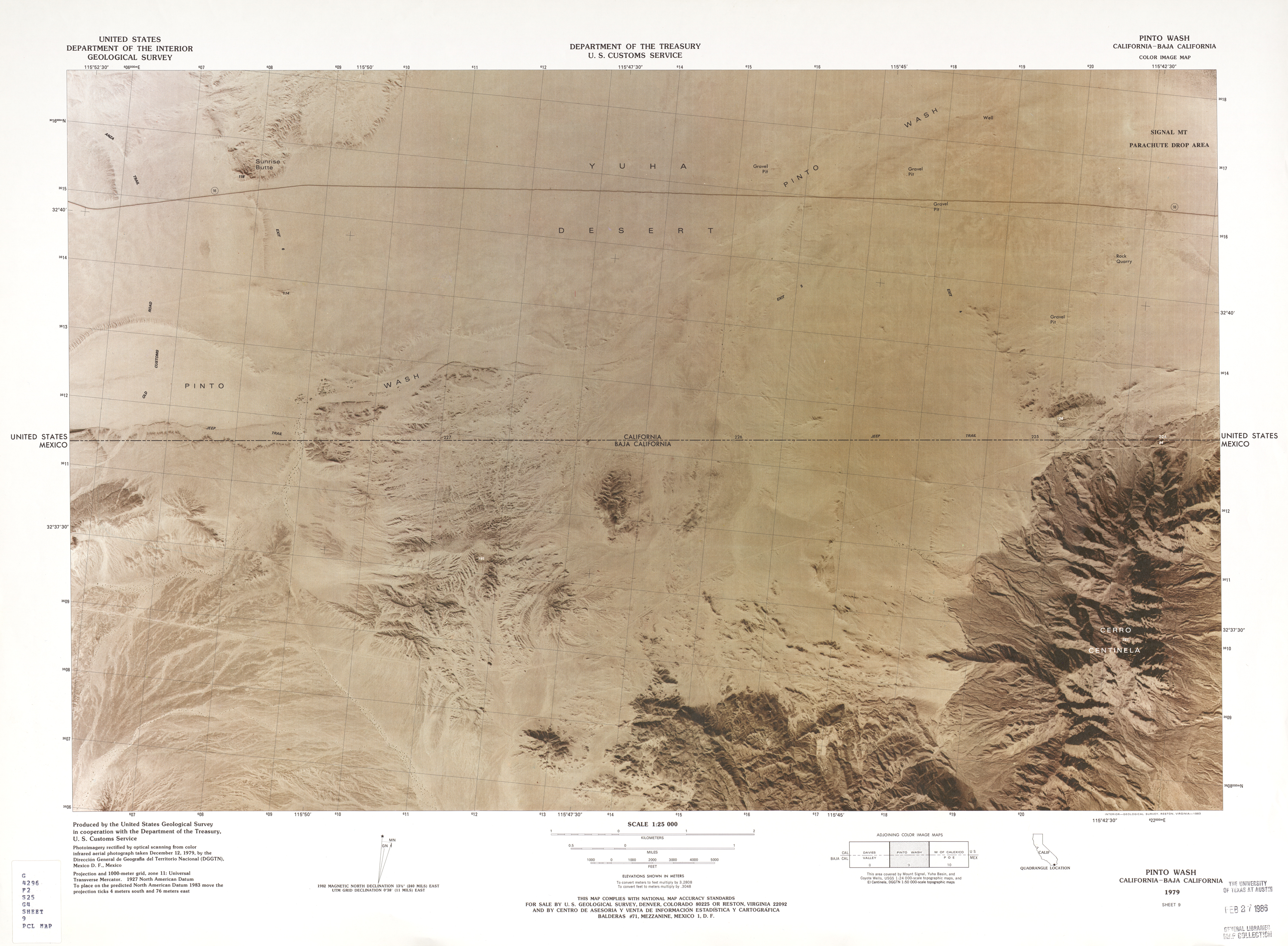 Mexico United States Border - Perry-Castañeda Map Collection - UT ...