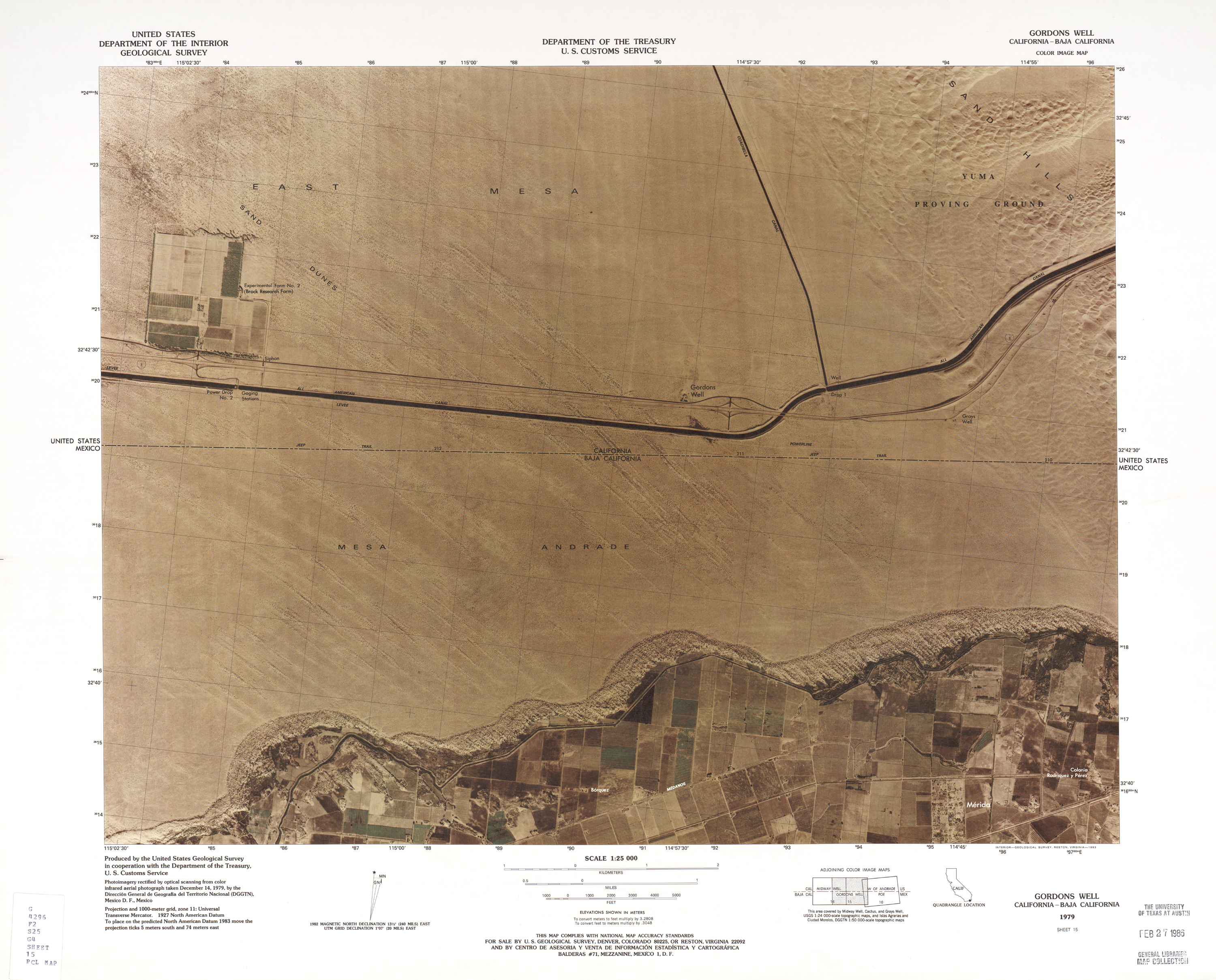 united states mexico border color image map series us geological survey and us customs service 1979 1983
