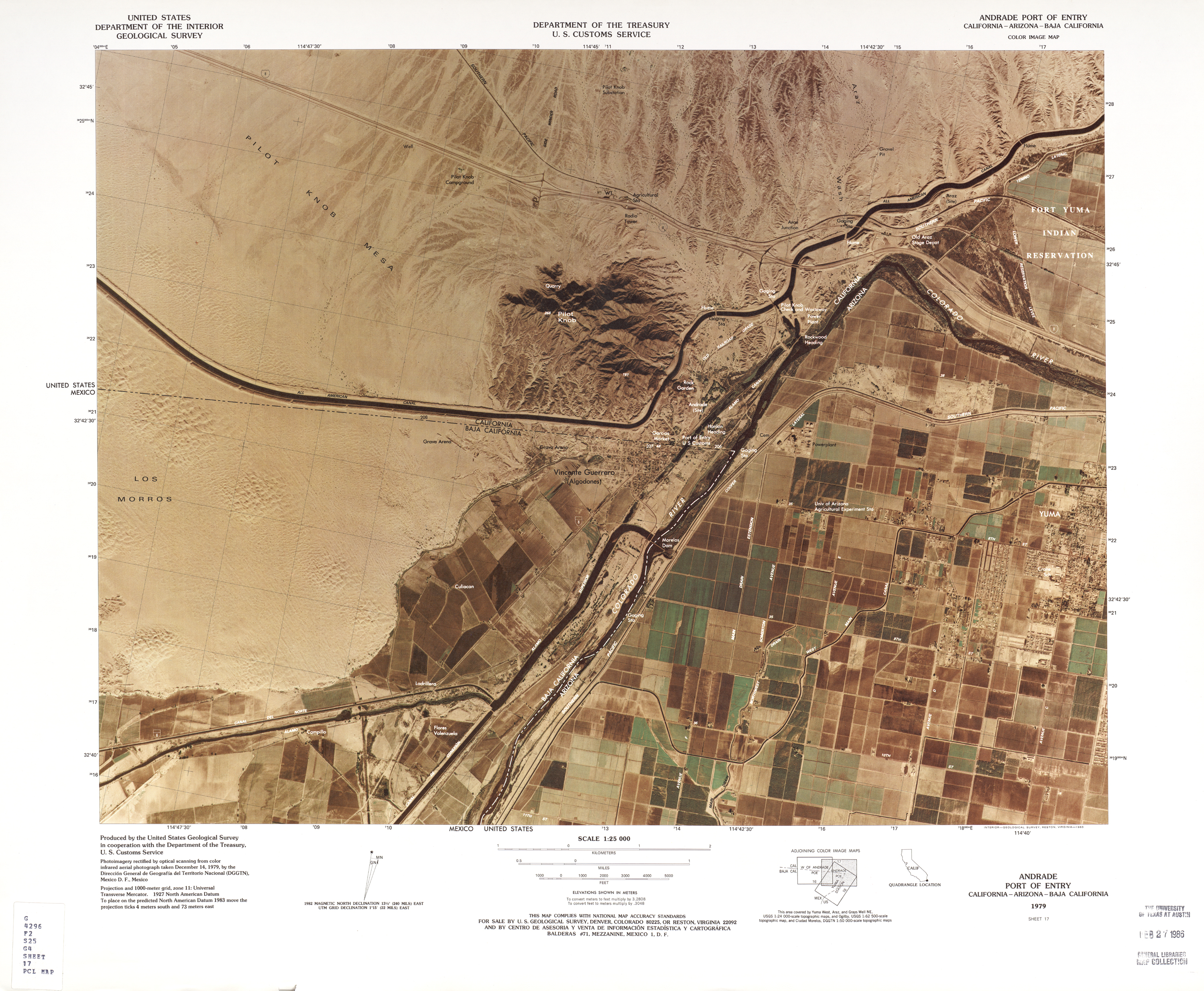 Mexico United States Border PerryCastañeda Map Collection UT - Us ports map