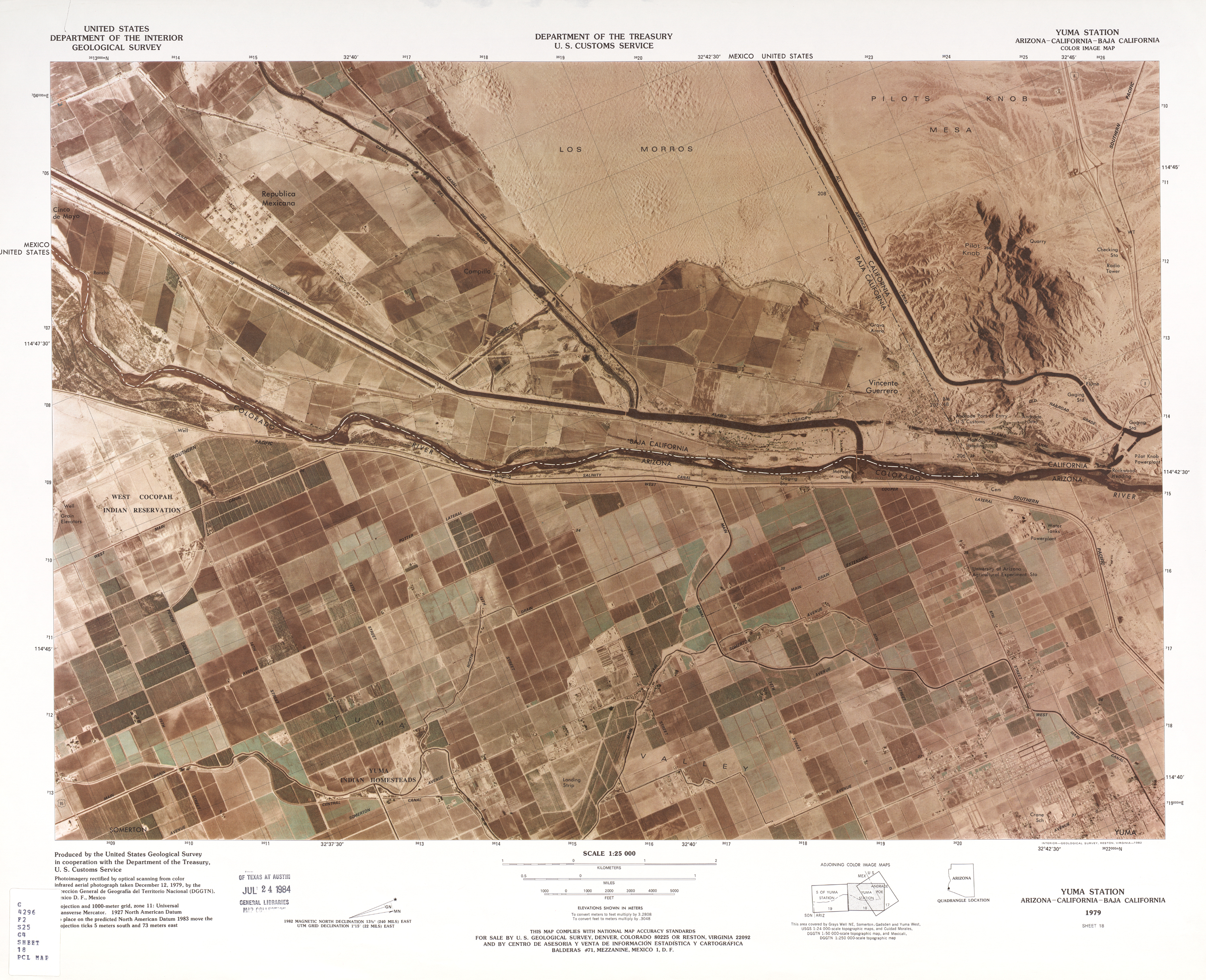 Mexico United States Border PerryCastaeda Map Collection UT
