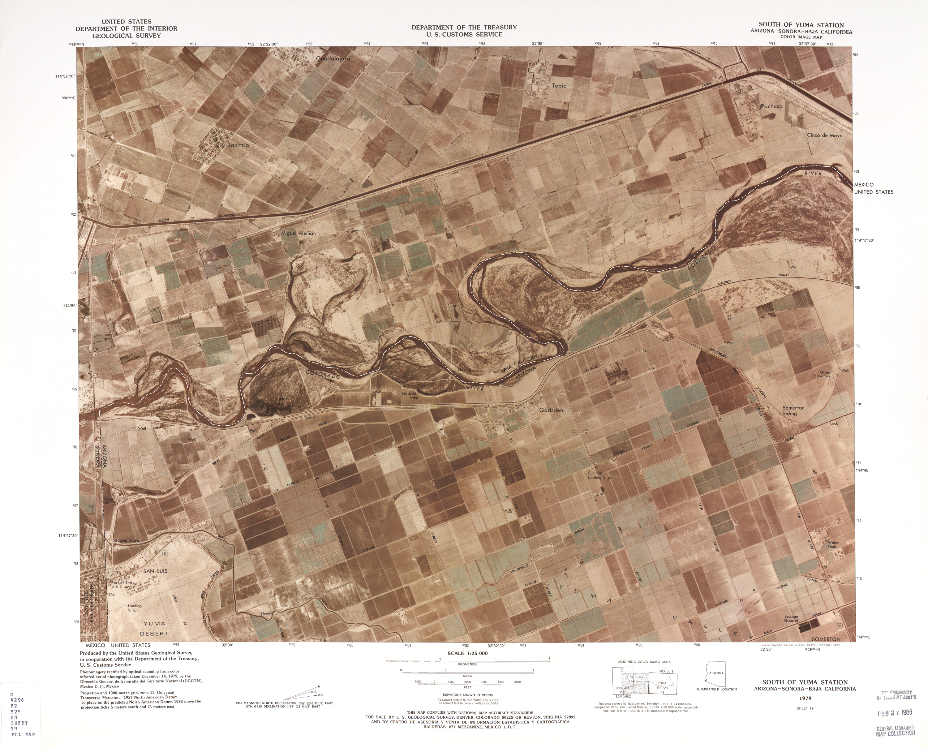 Mexico United States Border PerryCastañeda Map Collection UT - Us south border map