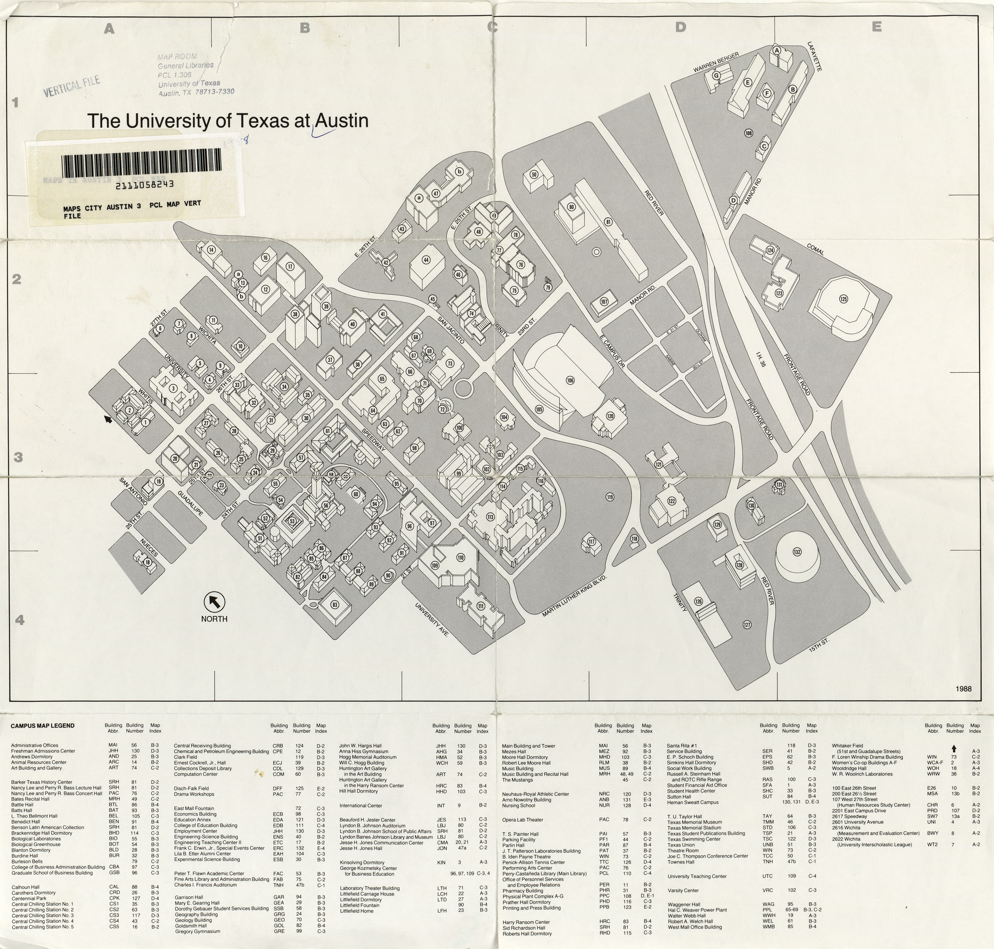 University Of Texas Campus Map Historical Campus Maps University of Texas at Austin   Perry  University Of Texas Campus Map