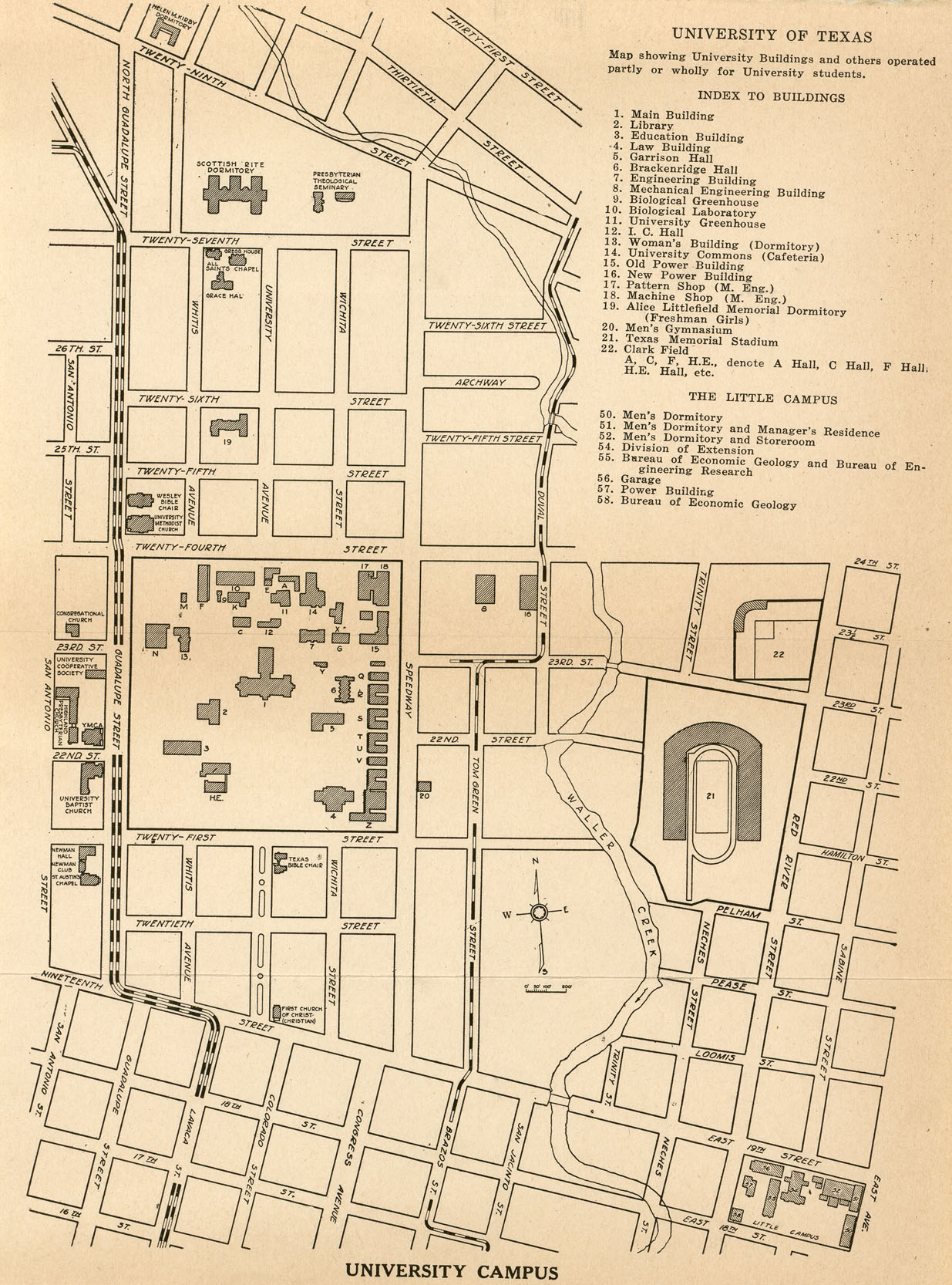 Historical Campus Maps University of Texas at Austin Perry – City Of Austin Site Plan Application