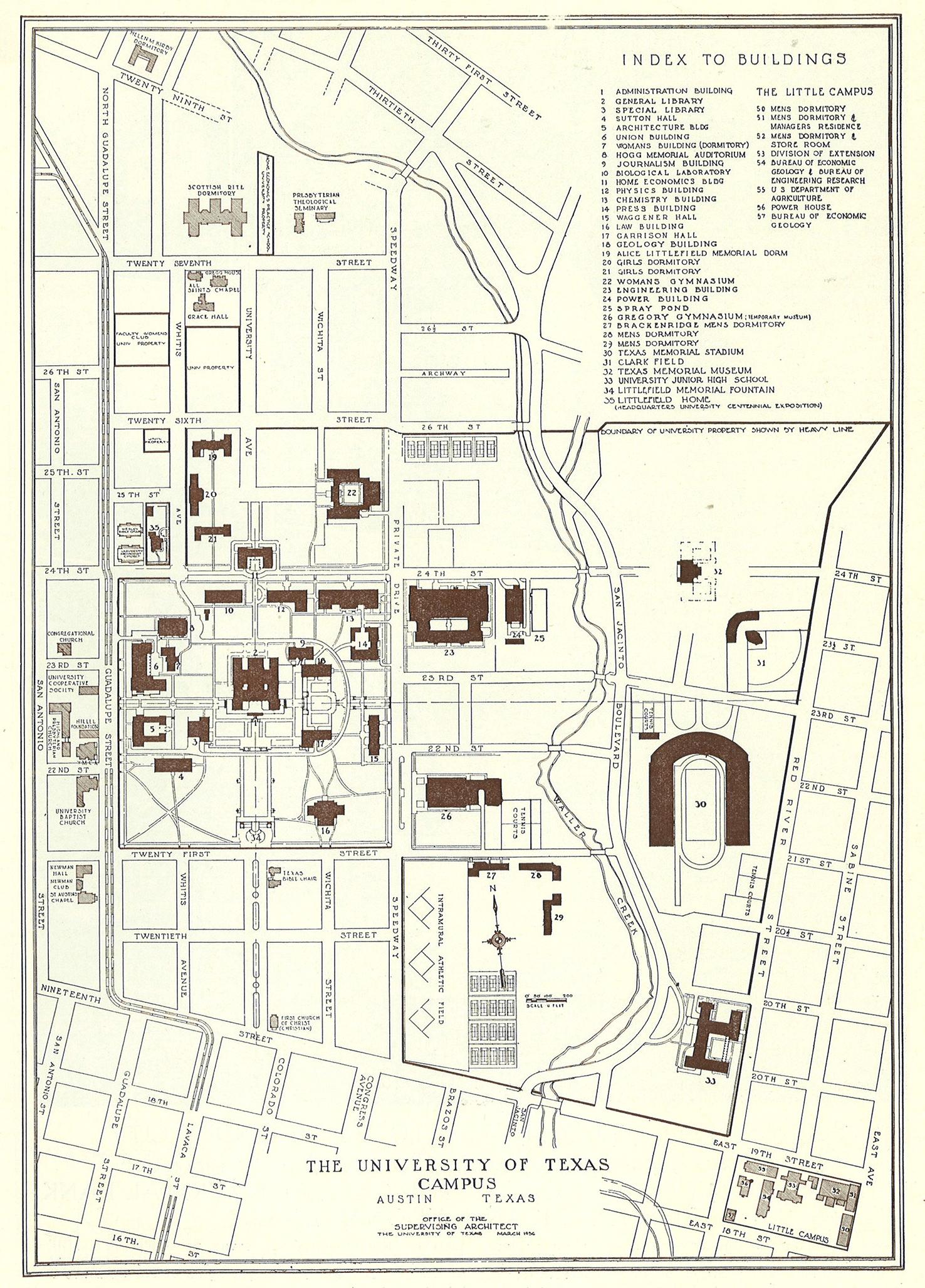university of texas austin map Historical Campus Maps University Of Texas At Austin Perry university of texas austin map