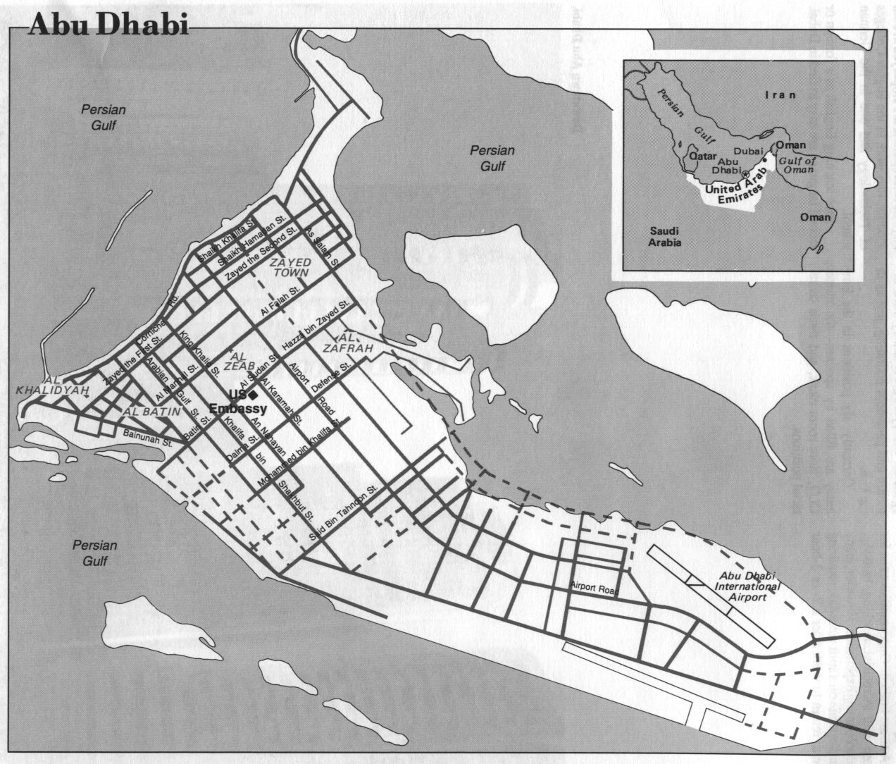 World City Maps PerryCastañeda Map Collection UT Library Online - Location map of us embassy in abu dhabi