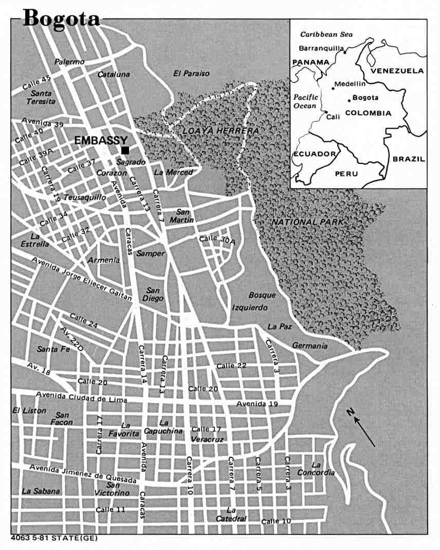 World City Maps PerryCastañeda Map Collection UT Library Online - Map us embassy bogota