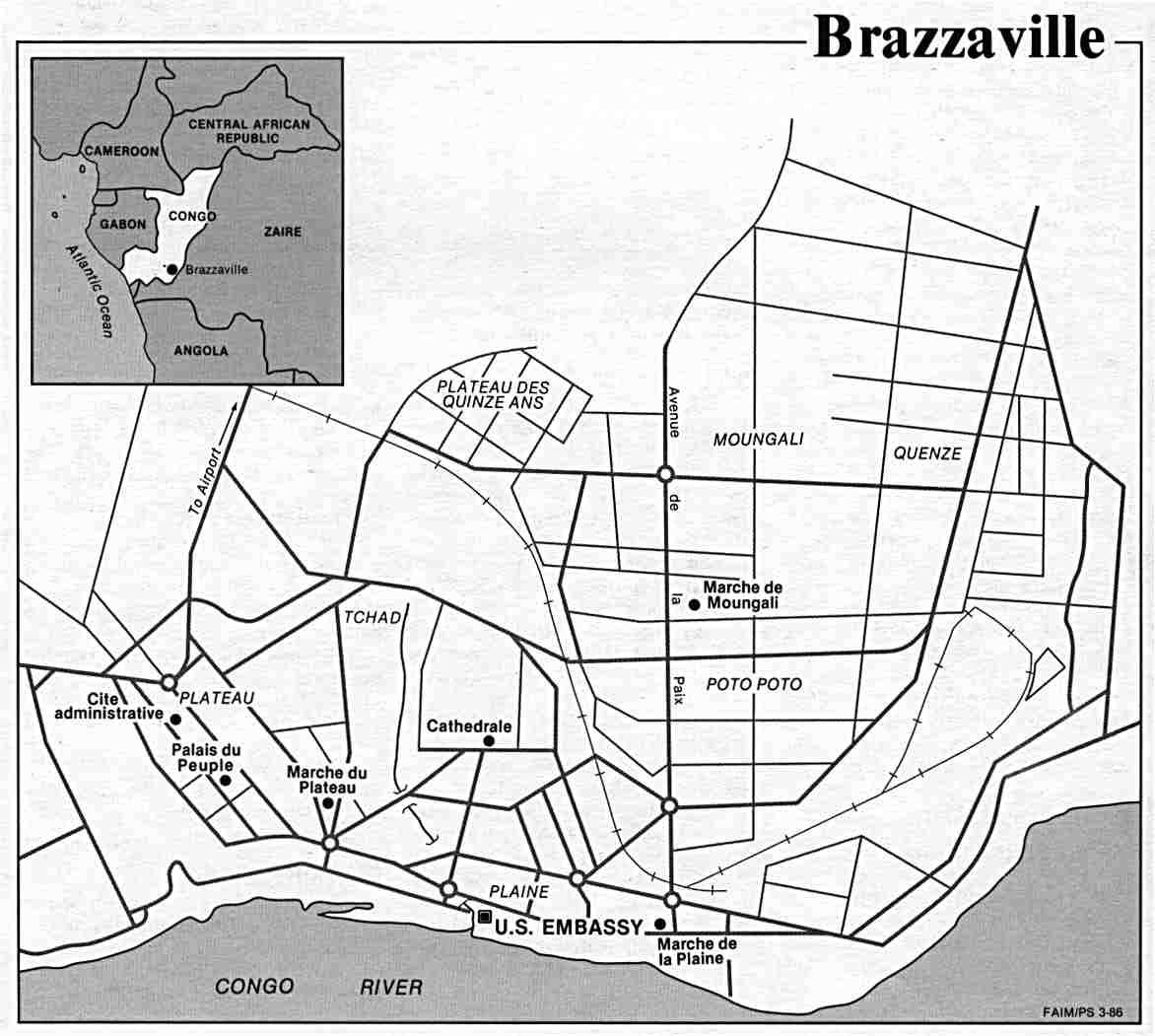 L'HISTOIRE DU CONGO A TRAVERS LES RUES DE BRAZZAVILLE (jusqu'en 1986) par Jean-Pierre Banzouzi