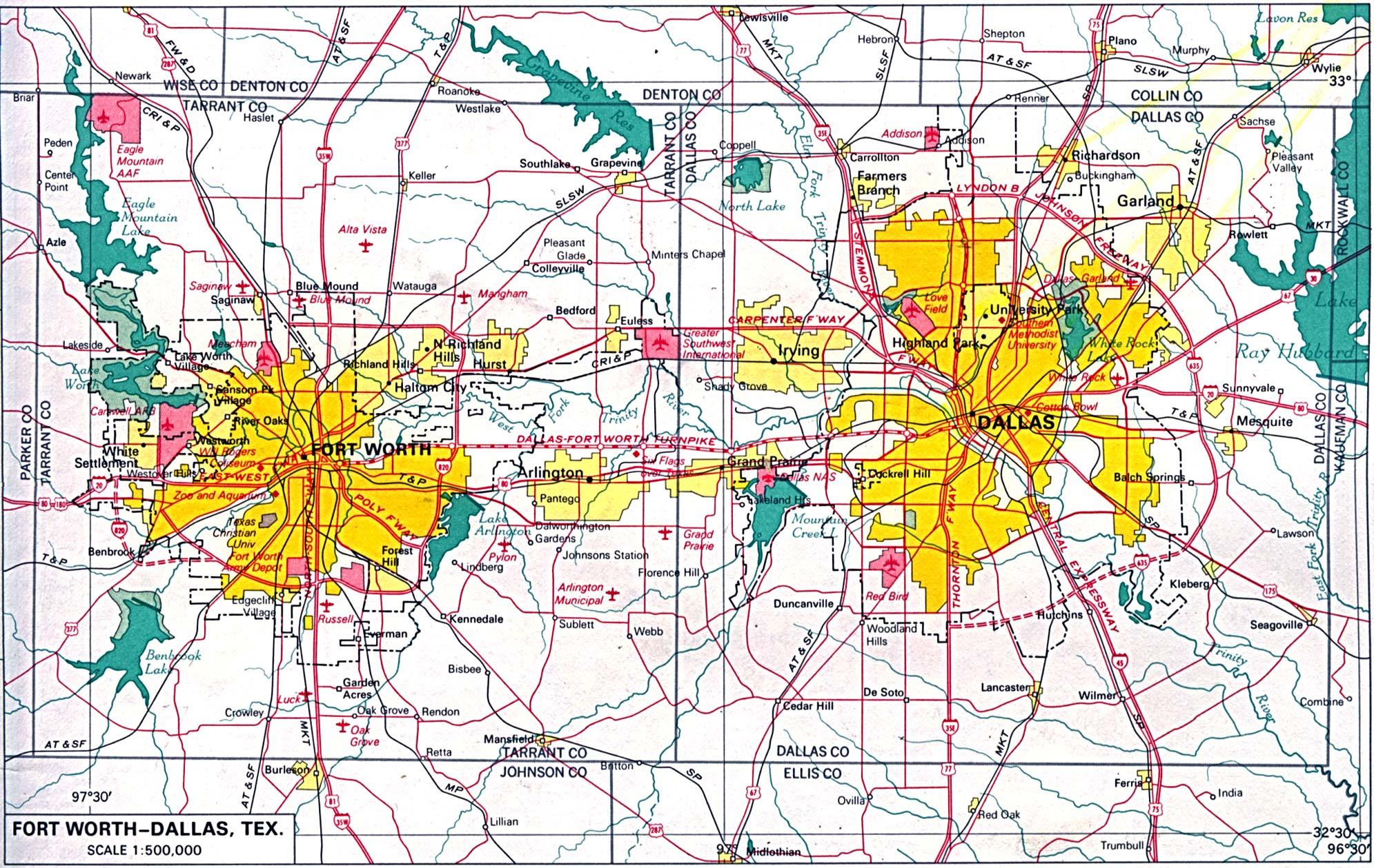 Mapa De Ciudades De Texas Usa