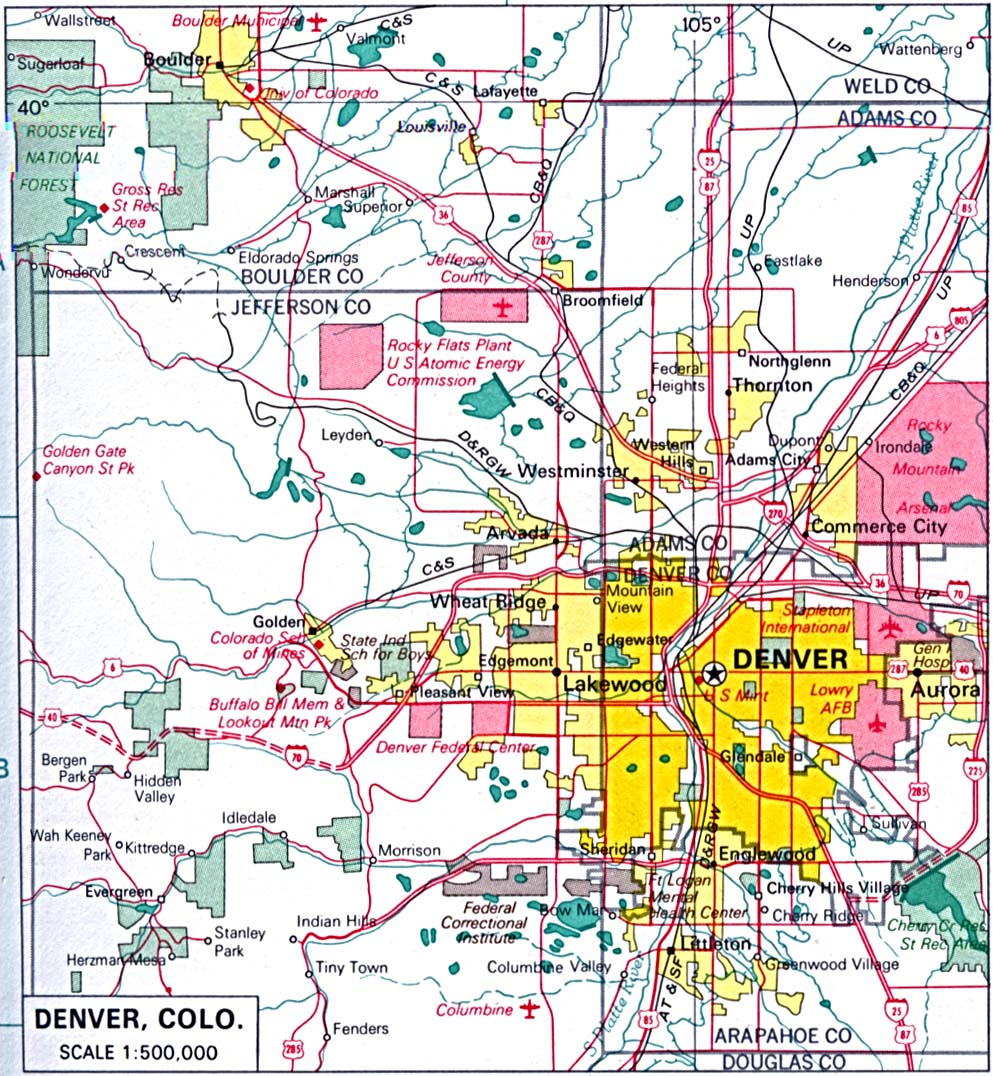 State Of Colorado Mapsof Interstate Highways Cities Typography - State of colorado map