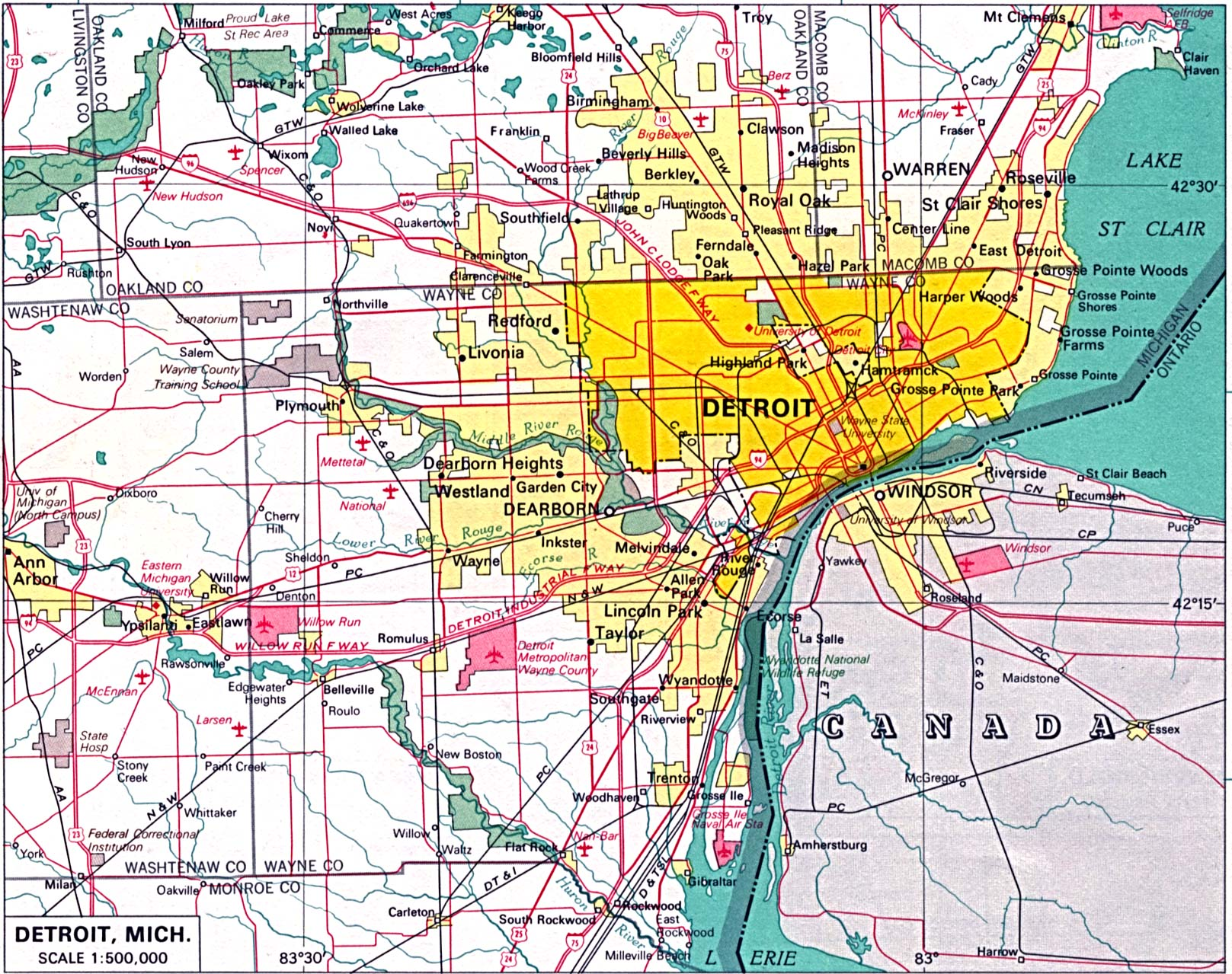 Michigan maps perry castaeda map collection ut library online city maps gumiabroncs Images
