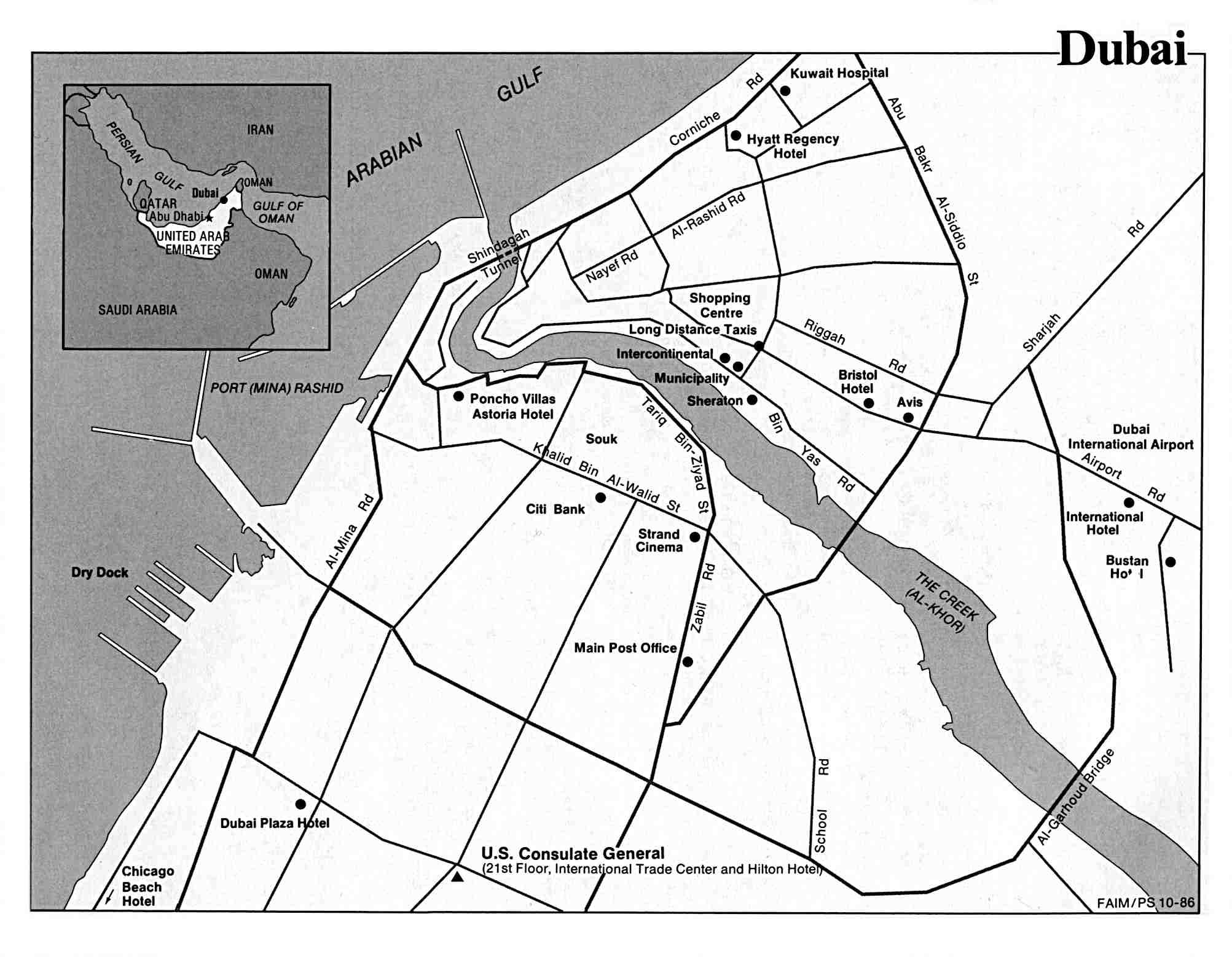 United Arab Emirates Maps PerryCastaeda Map Collection UT