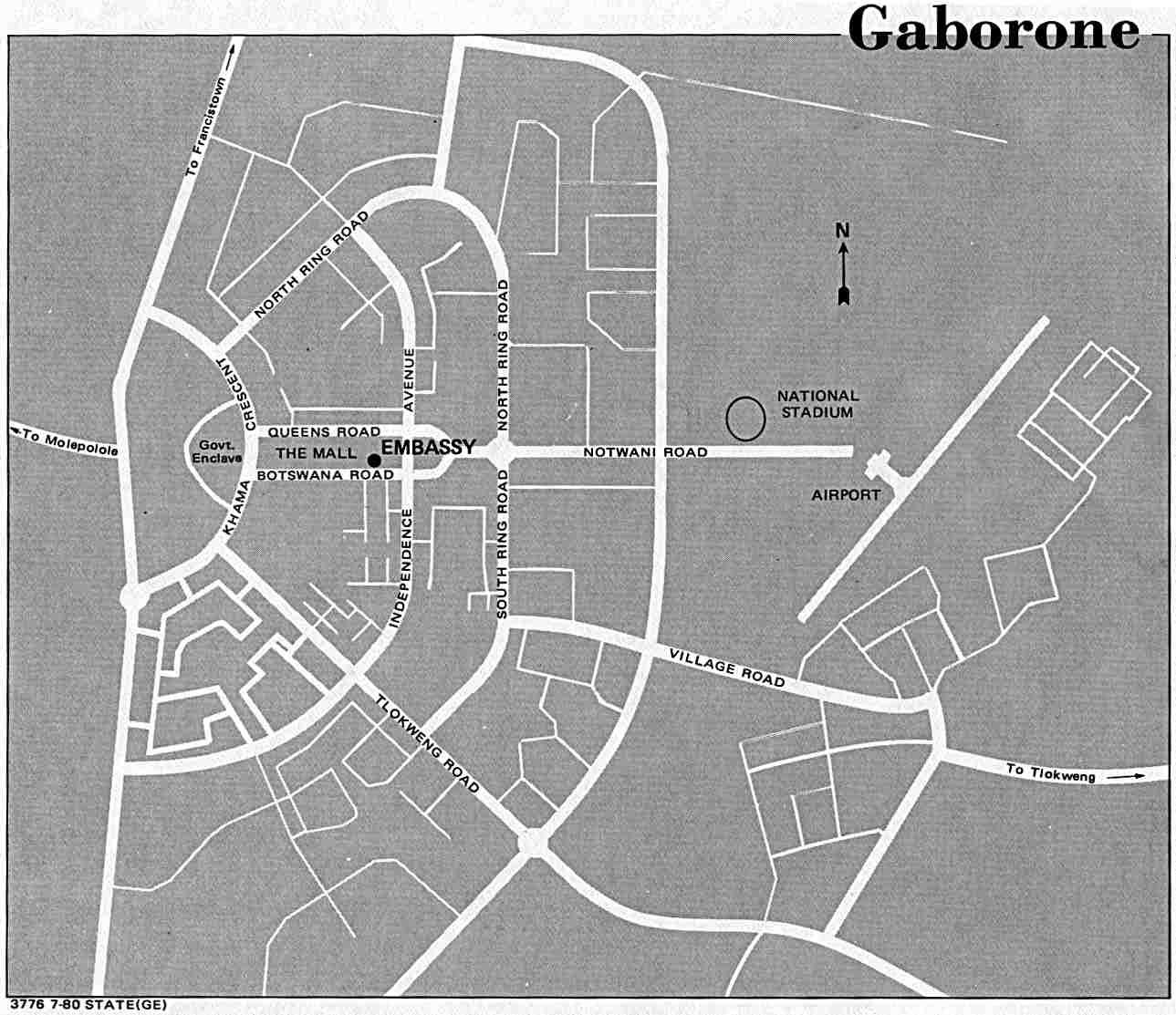 map of gaborone city botswana Botswana Maps Perry Castaneda Map Collection Ut Library Online map of gaborone city botswana